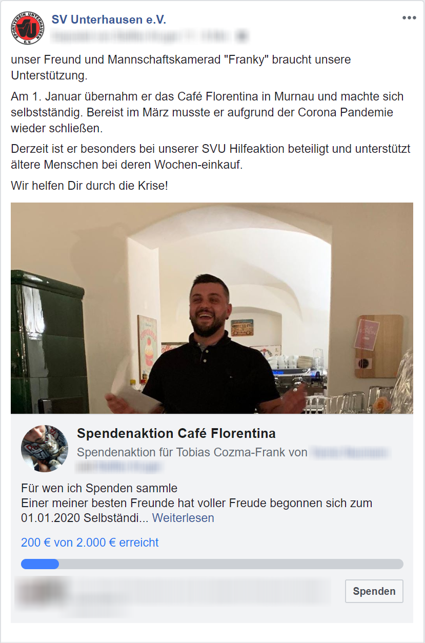 Spendendaktion SVU